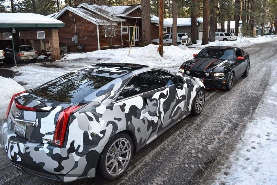 "How Much Does A Car Paint Job Cost >> Skycap Customs on Twitter: ""#Cadillac #CTSV fully wrapped in #snow #camouflage #mustang #gt Wrap ..."