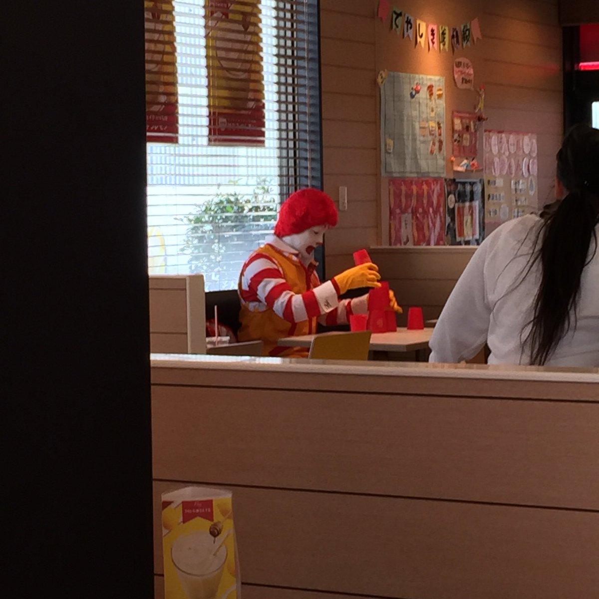 久々にマクドが食べたくなったから食べに来たら、ドナルドが一人で遊んでた…。 関西弁喋ってた…。