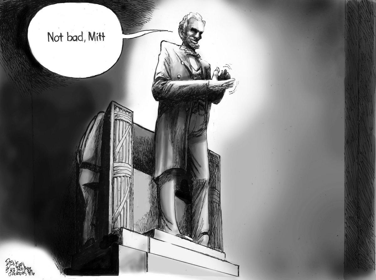 #AbeLincoln #MittRomney #DonaldTrump #GOP #SneakPeek #SteveBenson #Cartoon @arizonarepublic https://t.co/ElF7kiXyWx https://t.co/uZIsFsv25Z