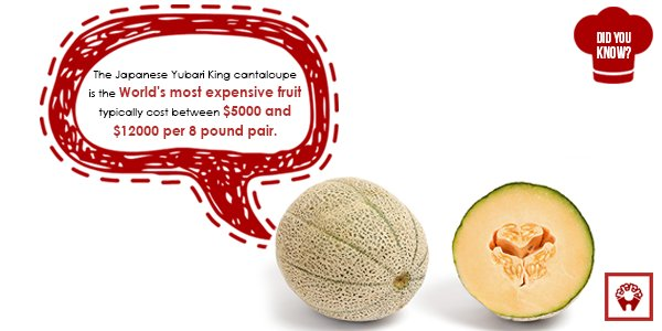 Ramyas Hotels Trichy On Twitter The Japanese Yubari King Cantaloupe Is The World S Most Expensive Fruit Cost Between 5000 12000 Dyk Https T Co Xrawymbey3 I found this weird thing that looked like a bug in my cantaloupe. twitter