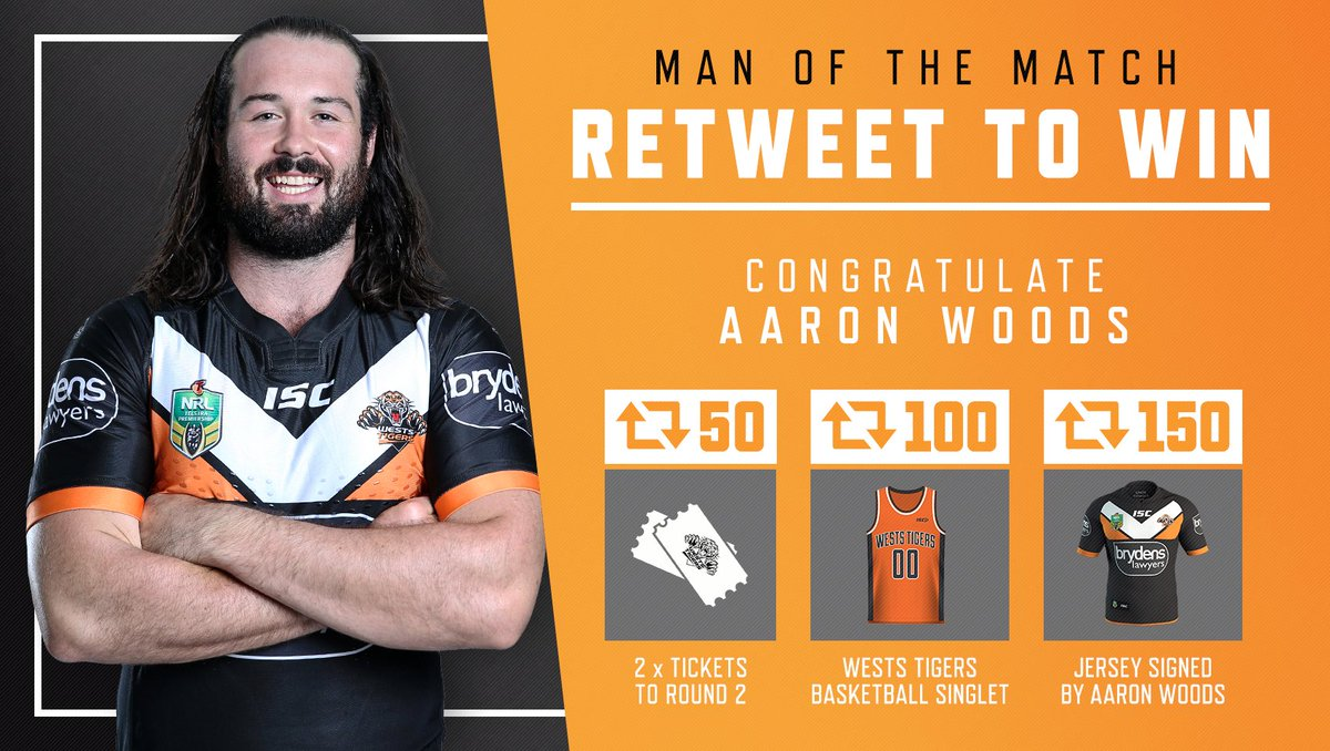 #RETWEET to congratulate @aaronwoods11 as today's Man of the Match and you could win some great prizes! #WinAsOne https://t.co/t9UctE9jxD