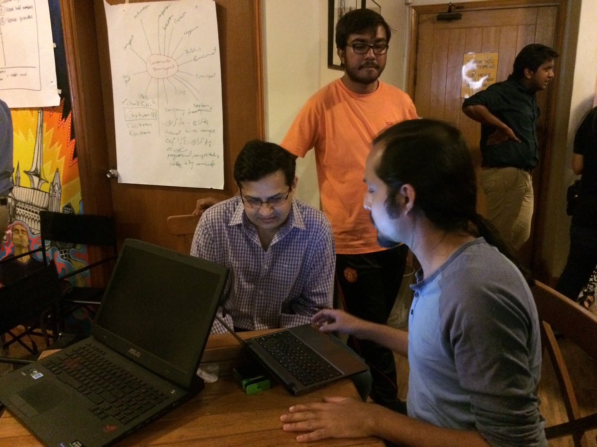 Our mentor AR is here. #hackarachi #codeacross https://t.co/lV7UwlRnsN