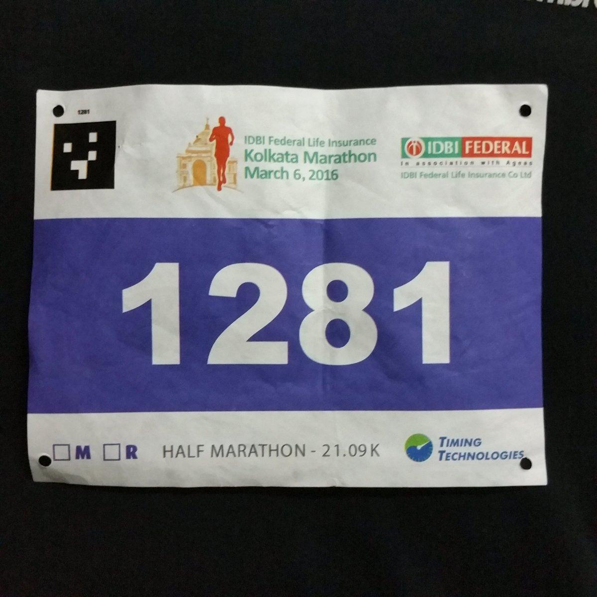 All set for the Kolkata Marathon tomorrow. Running the 21k. So excited to #runforkolkata :)) https://t.co/aLWkeOfczI