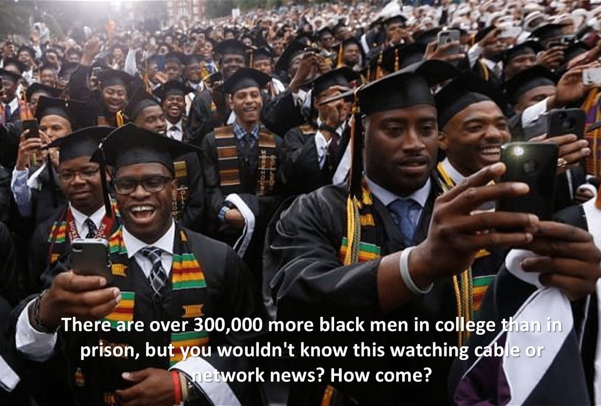 #FACT!!! There are more black people in college than prison. https://t.co/u10pIS5Lk5