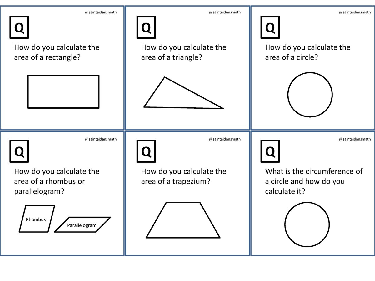 Saint Aidan S Maths On Twitter New Gcse Grade C Revision Cue Cards 2 10 Print Back To And Quiz Yourself Your Clmates P
