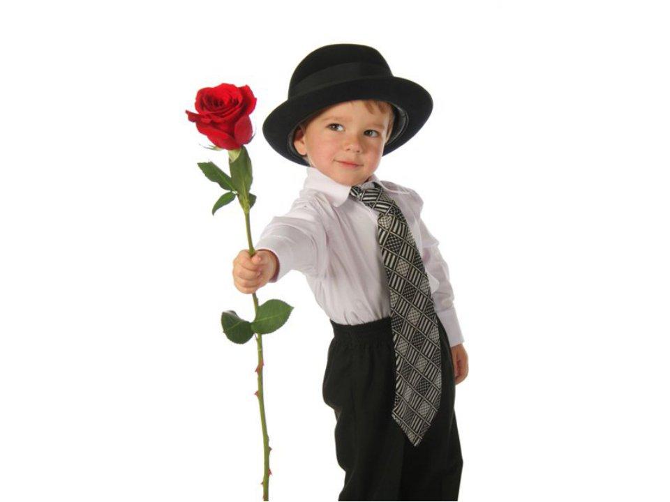 Открытки мальчик с букетом, открытку
