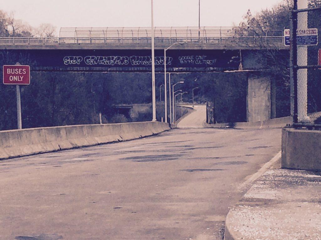 "Seen on the Baum Blvd bridge over Neville Ramp: ""Stop gentrifying Pittsburgh"" https://t.co/zQHdwyPH1O"