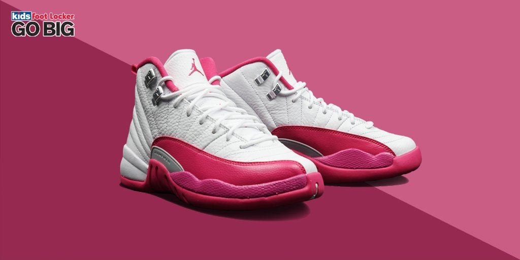pretty nice af39d 5e795 ... norway kids foot locker on twitter the girls jordan retro 12 dynamic  pink releases today buy