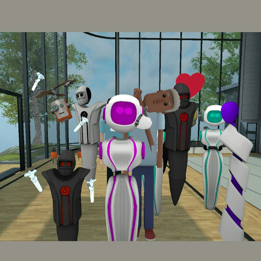 My first VR selfie with all my new VR friends in @AltspaceVR and @LeapMotion https://t.co/oysCI5SFeP