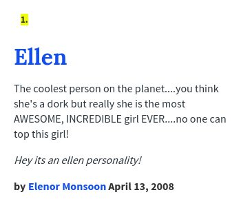 Ellen urban dictionary