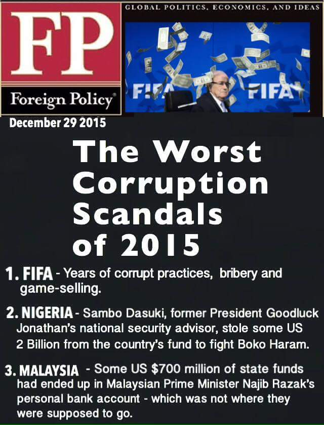 The worst corruption scandals of 2015. https://t.co/oiGZBQ8NA6