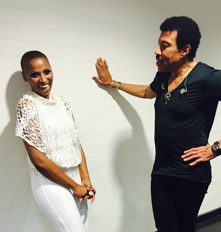 Myself and Mr Lionel Richie in Cape Town
