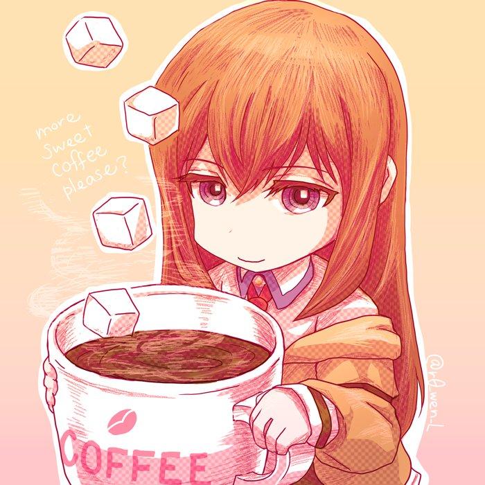 ちいさい紅莉栖のコーヒーブレイク。いつもより甘くしないと飲めないのではないかと… #シュタゲ https://t.co/Zt39asaYRv
