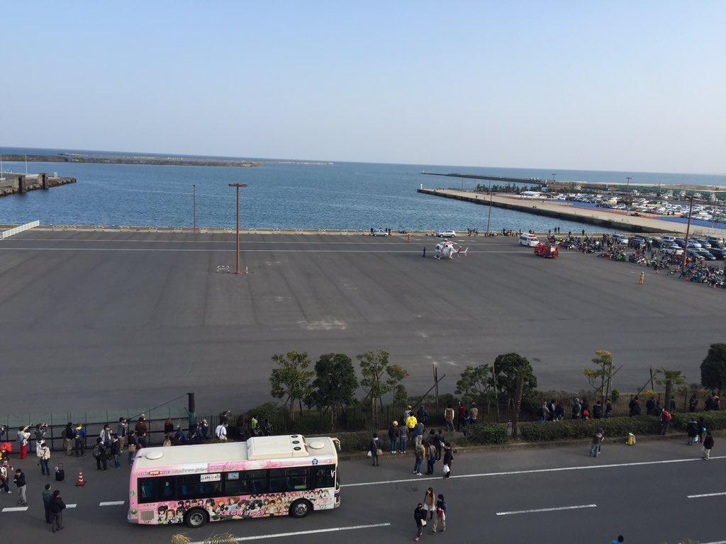 大洗の広場にドクターヘリきた https://t.co/snEbK74vRn