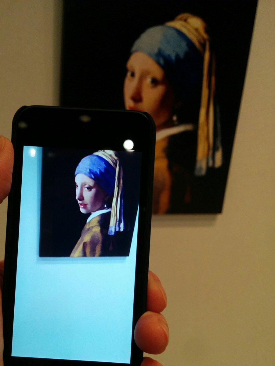 スマホでみる美術館  行ってきました。 ARアートミュージアム https://t.co/BY0C8v02BX