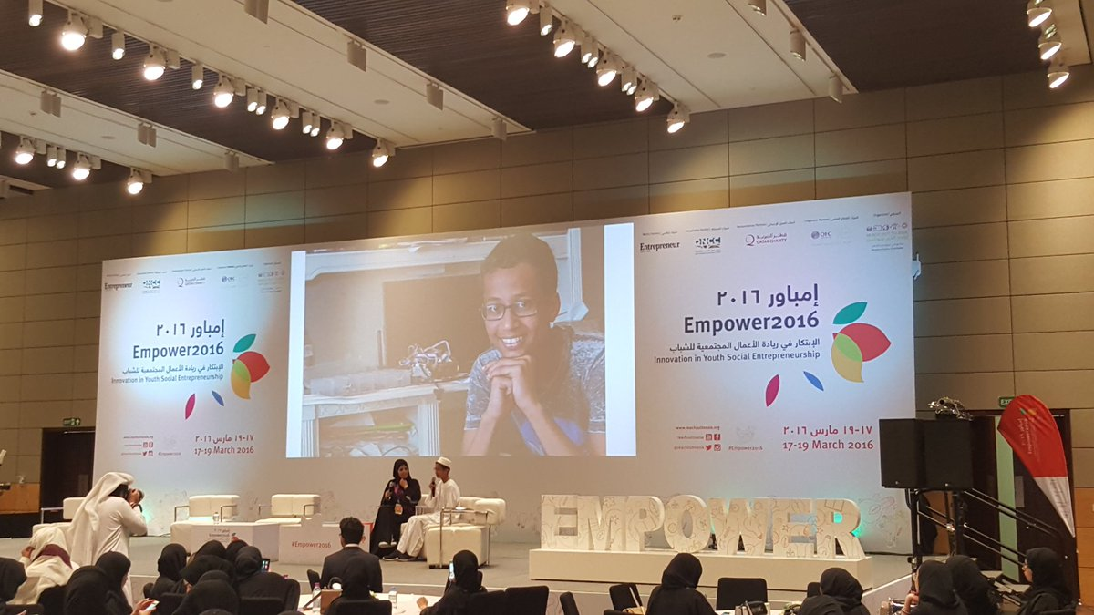 Here to talk about inventing #istandwithahmed  - 30 Most Influential Teens of 2015. #Empower2016 @reachouttoasia https://t.co/hYG1vIhN8j