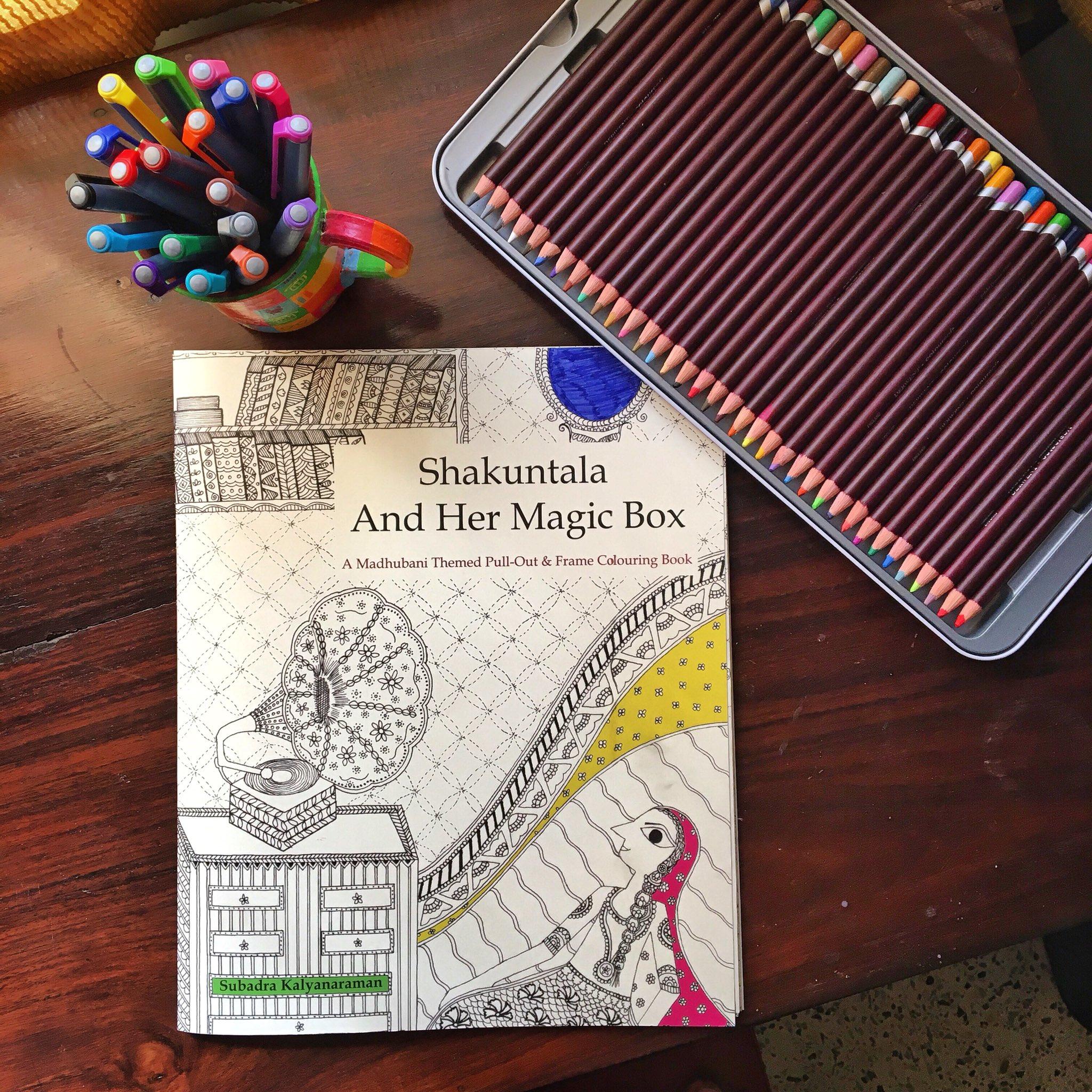 Subadra On Twitter ShakuntalaAndHerMagicBox A Madhubani Themed Adult Colouring Book Now Amazon Order Off Tco 0f09h6ntVb
