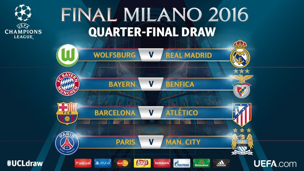 Can't wait for the first leg matches  #UCLdraw #ForcaBarca #RoadToMila...
