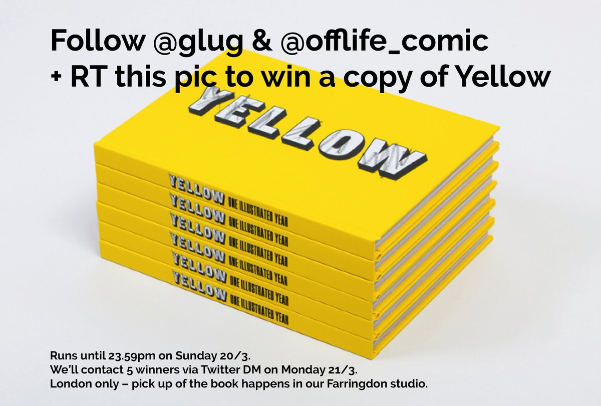 → RT this + follow us & @OFFLIFE_comic to win copy of Yellow | Ends Sunday, Farringdon pick-up, we'll DM winners ✨ https://t.co/7LJdCwYQ8w