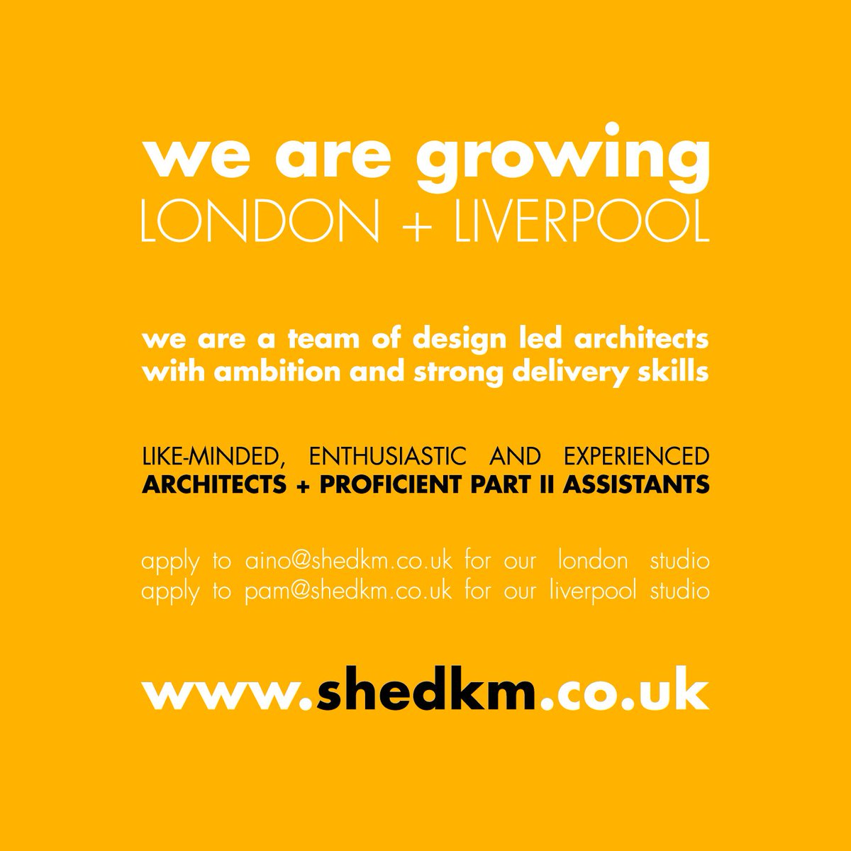 shedkm on twitter we are growing looking for enthusiastic