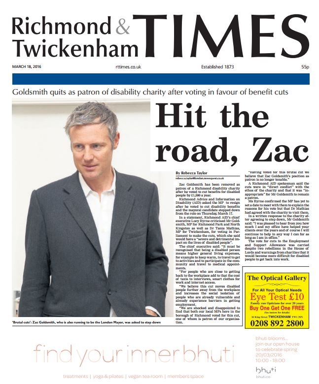 Pick up your copy of the Richmond and Twickenham Times, out today! https://t.co/UsJN3NZ2HH