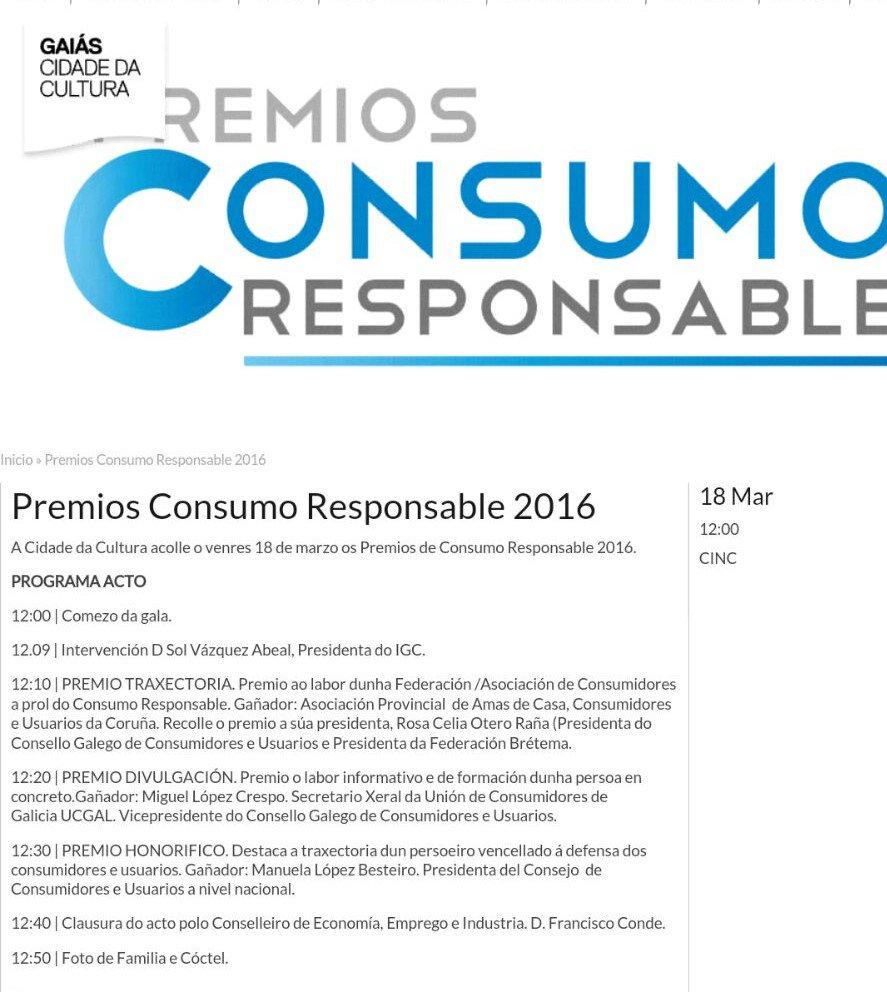 Thumbnail for Premios Consumo Responsable