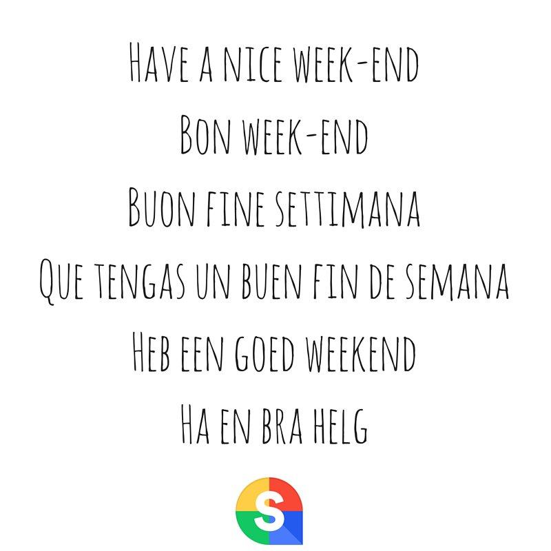 Ha en fin helg