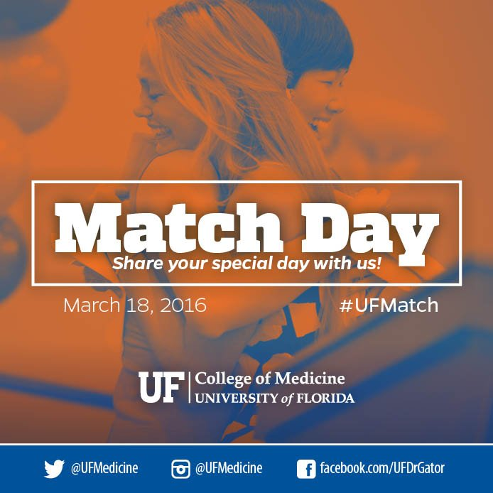 The class of 2016 Match Day starts now! Join the conversation using #UFMatch and #Match2016. https://t.co/oJqXjP7USz