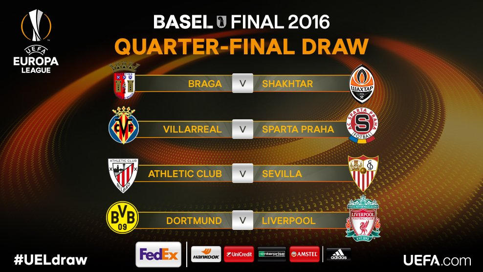 The official result of the #UELdraw. https://t.co/R8wMTQlACz