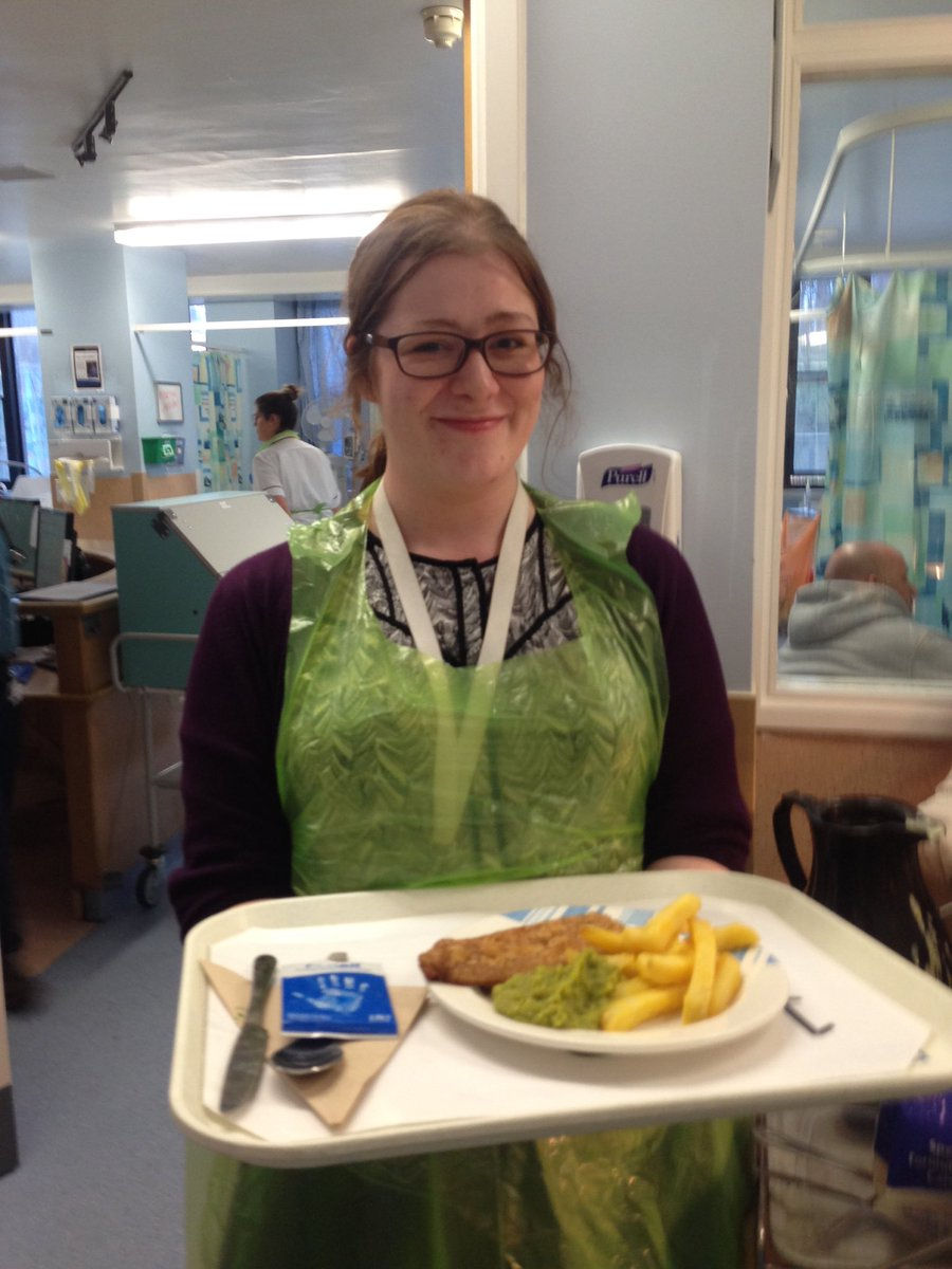 @nottmhospitals. Great time as dining companion on ward B3 with @karendraper23 for #NHWeek. Thanks B3, great team.