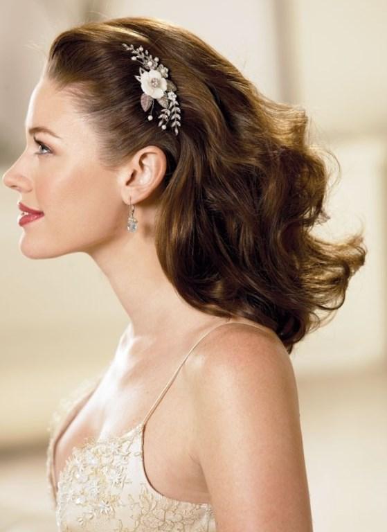 Простая свадебная прическа на длинные волосы