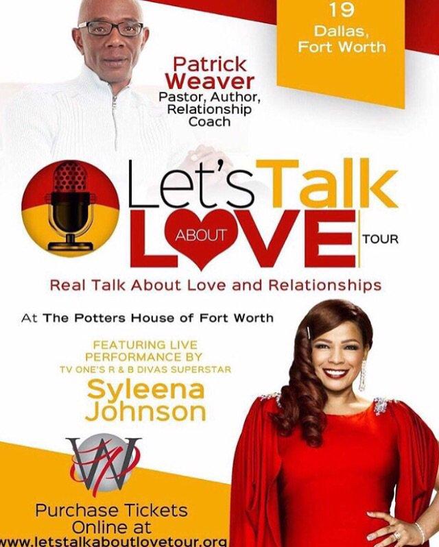 "#TONIGHT Dallas,TX Pastor Weaver w/ @Syleena_Johnson @ Potters House Fort Worth ""Lets Talk About Love"" Tour! https://t.co/lBhdD4dJK9"