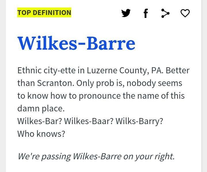 wilkes barre pronunciation