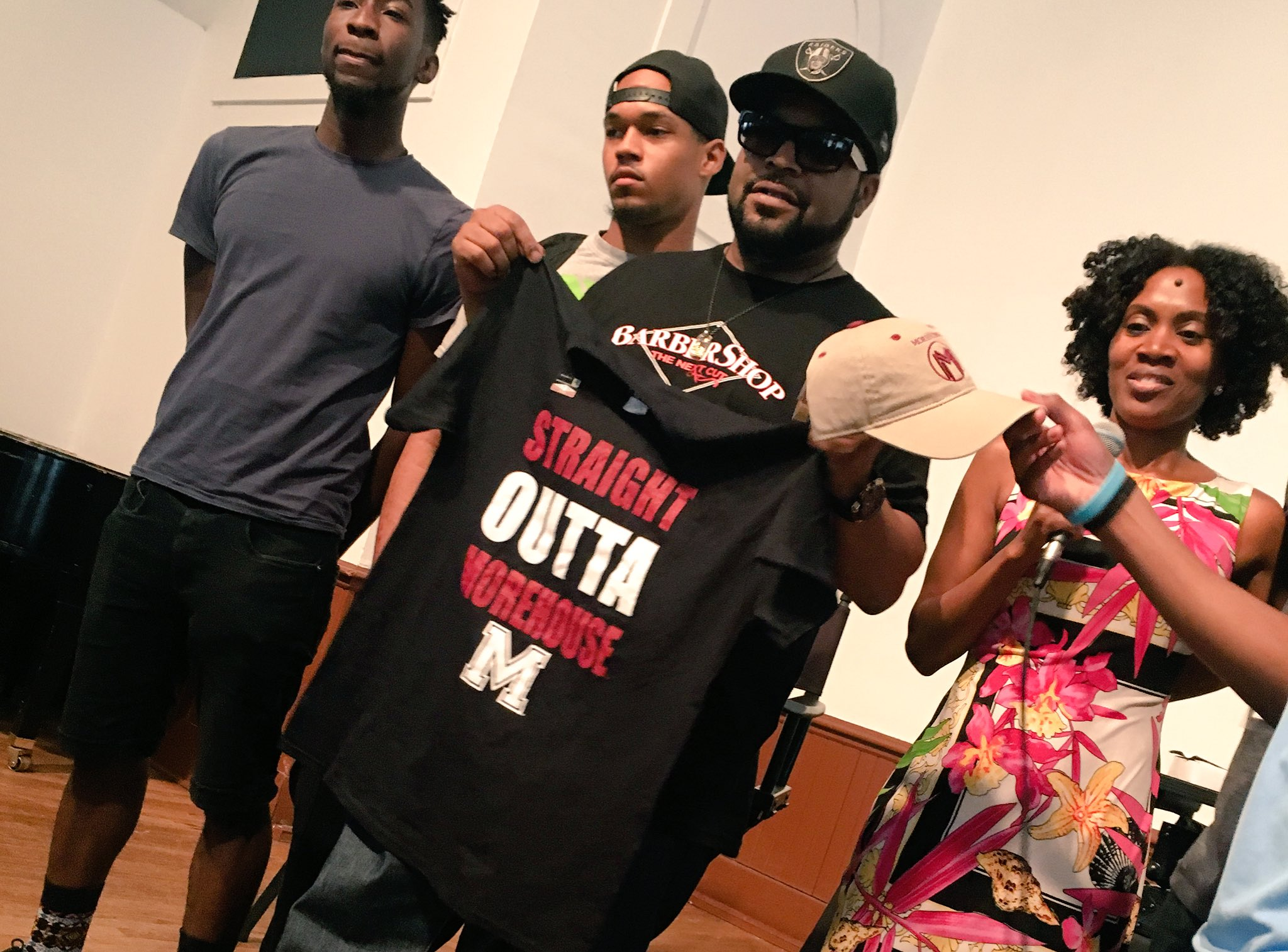 Ice Cube Visits Morehouse College To Promote New Movie