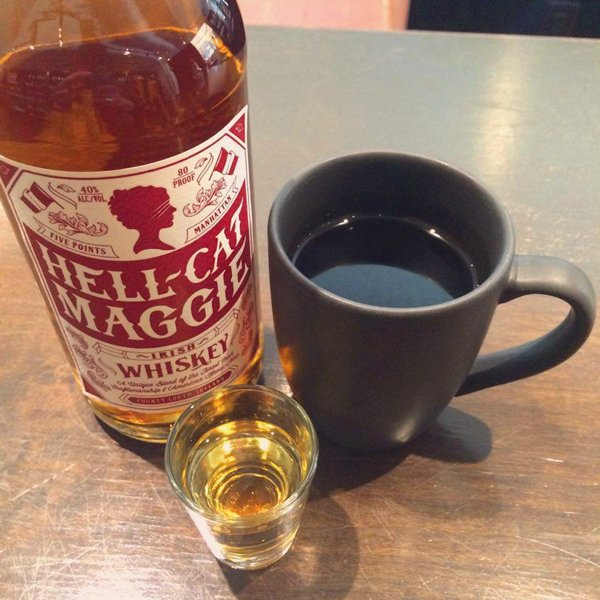 She's there to help get you back on your feet in the morning. #IrishWhisky #HellCat https://t.co/n85gbbmrFr