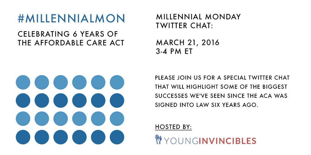 What are some of the #ACA biggest successes? Join #MillennialMon 03/21 & share your fave moments #ACAanniversary https://t.co/nWtNIj0Oa0