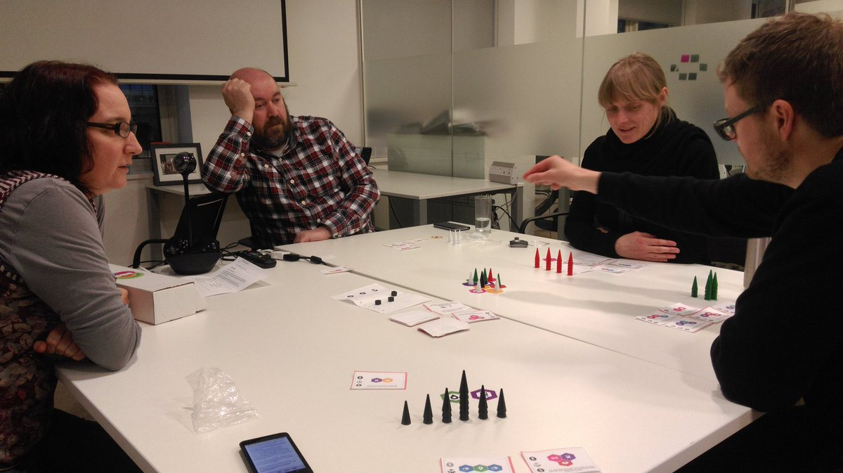 Yesss! It's Friday night & I'm playing the #opendata boardgame at @ODIHQ with @peterkwells @JeniT @carrinag and Ian. https://t.co/L9IEX1Tfim