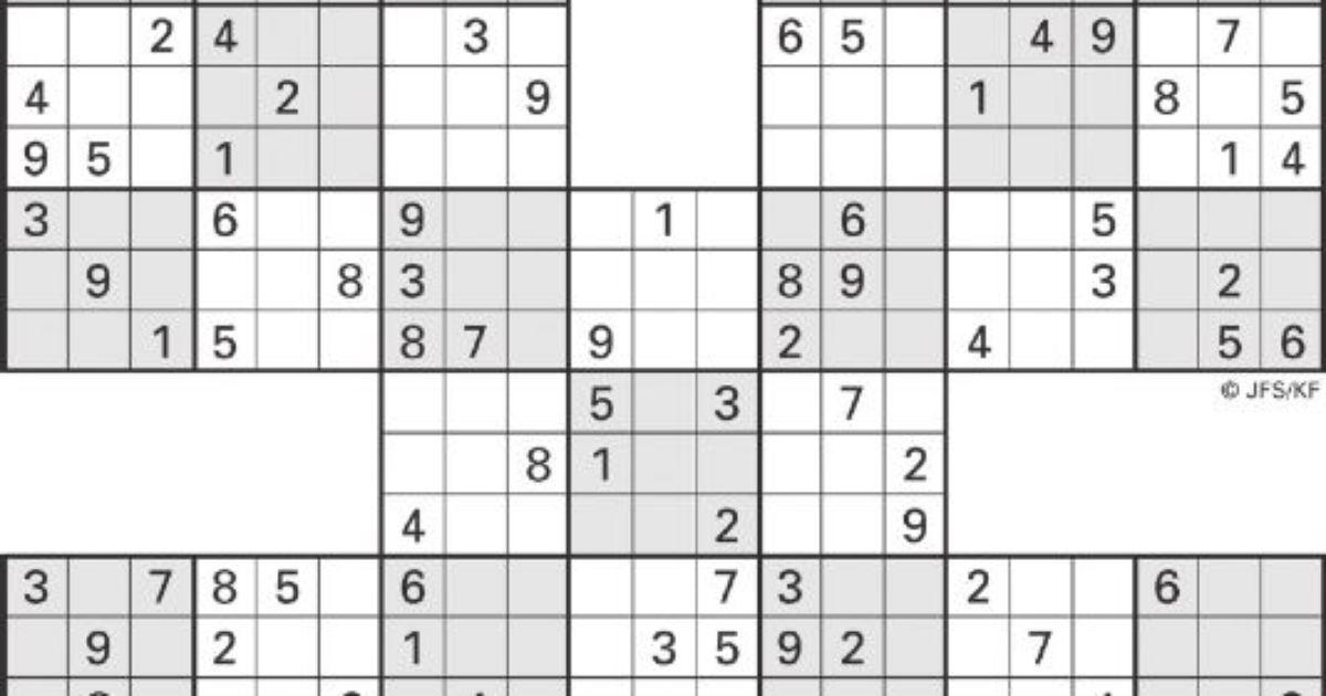 image regarding Washington Post Sudoku Printable known as Printable Sudoku Substantial-5 : Printable Sudoku SWFL The