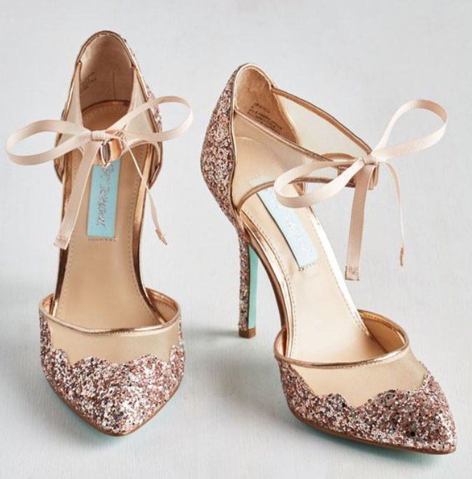 ee4516f75ba3 Rose Gold Glitter Heels #wedding #weddingshoes #bride #nextbrides  #weddinginspirationpic.twitter.com/V0XrP8a6E5