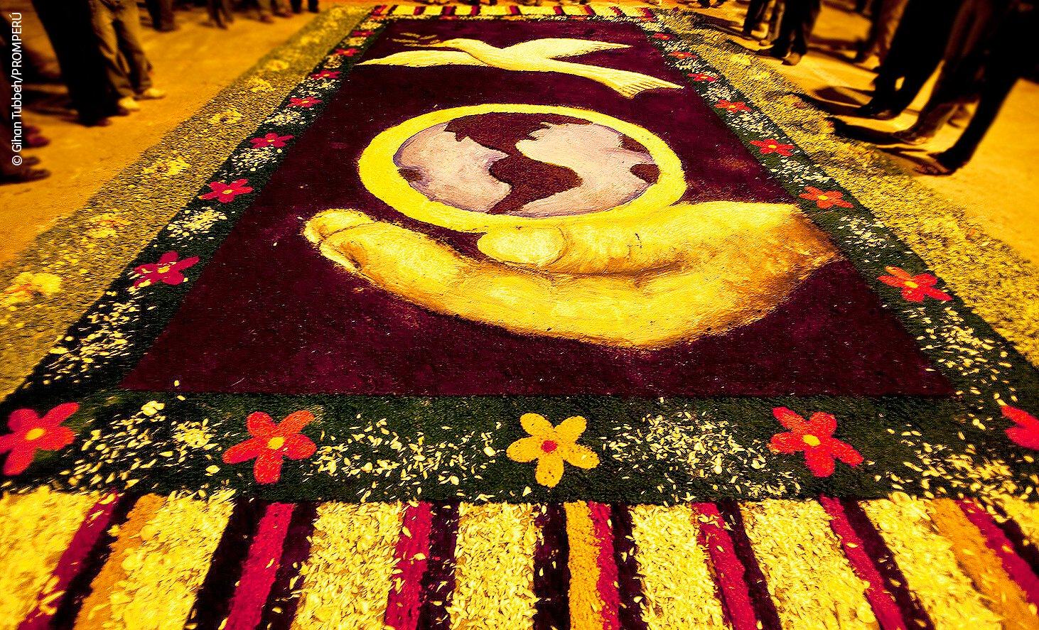 Marca per on twitter bellas alfombras de flores expresan la fe religiosa de tarma c mo no - Marcas de alfombras ...