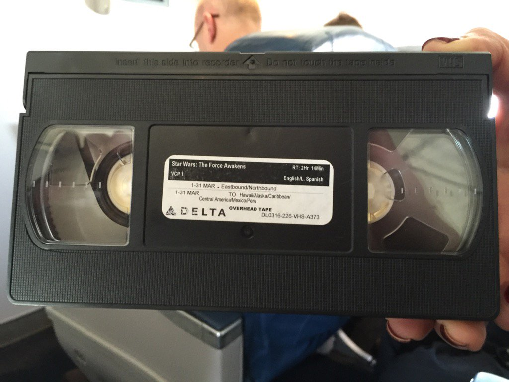 Don't judge an airline by its level of entertainment technology. Or should you?  #starWars #VHS ?! https://t.co/6FusKSzVYk