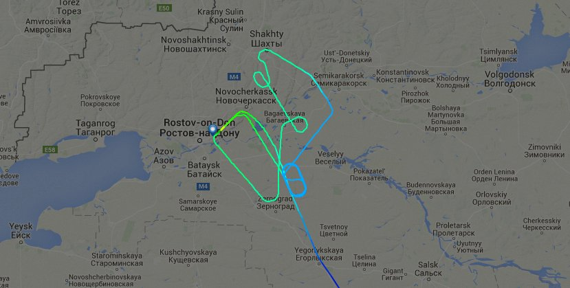 Radar shows a FlyDubai flight approaching Rostov-on-Don and circling Saturday morning. https://t.co/wpvQk4sBSM https://t.co/jgeC1IIkrm