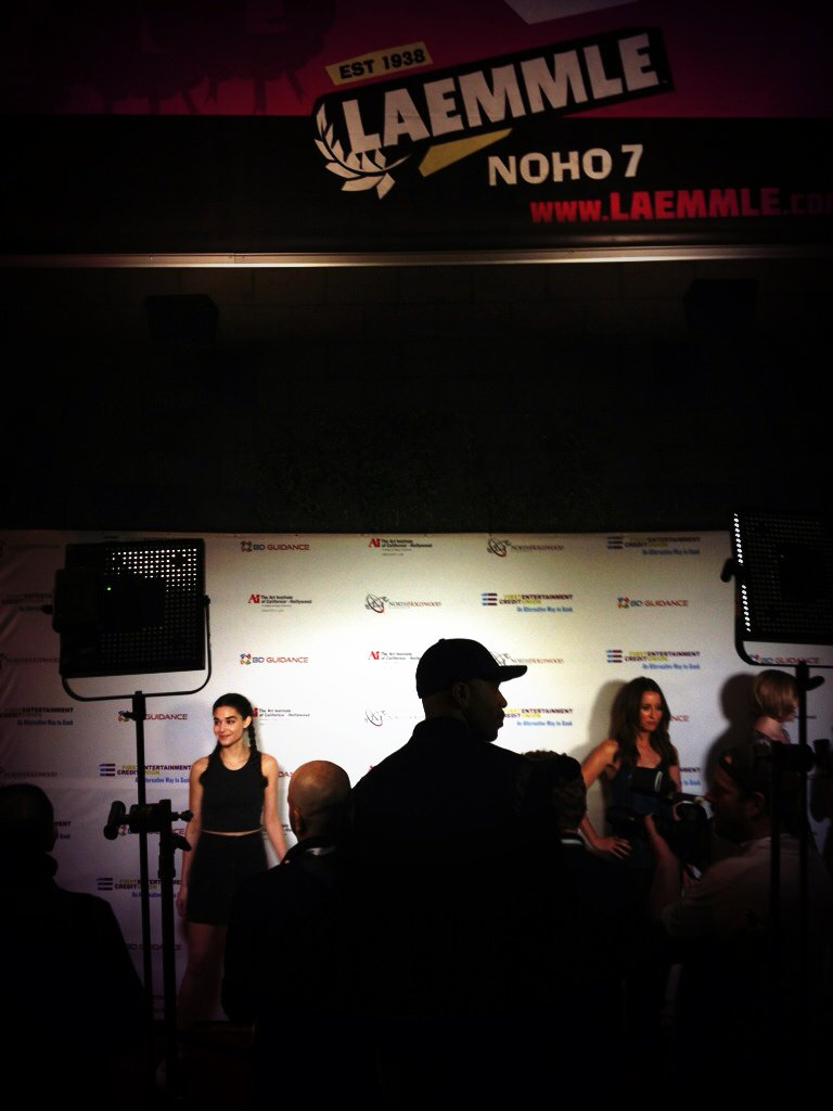 I lit that red carpet @NoHoCineFest Yayyy!! #SupportIndieFilm @BirnsandSawyer