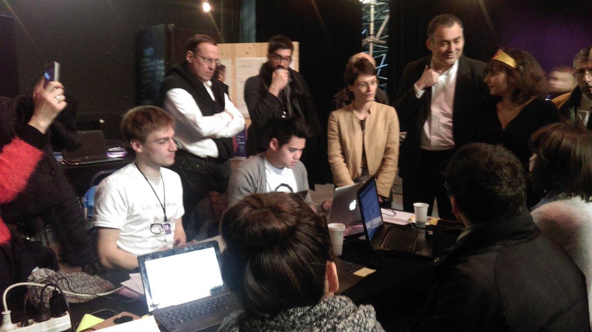 presentation des avancées des projets du hackathon #checkmyhome aux élu.e.s #SuperDemain https://t.co/uc7ZrcjCXe