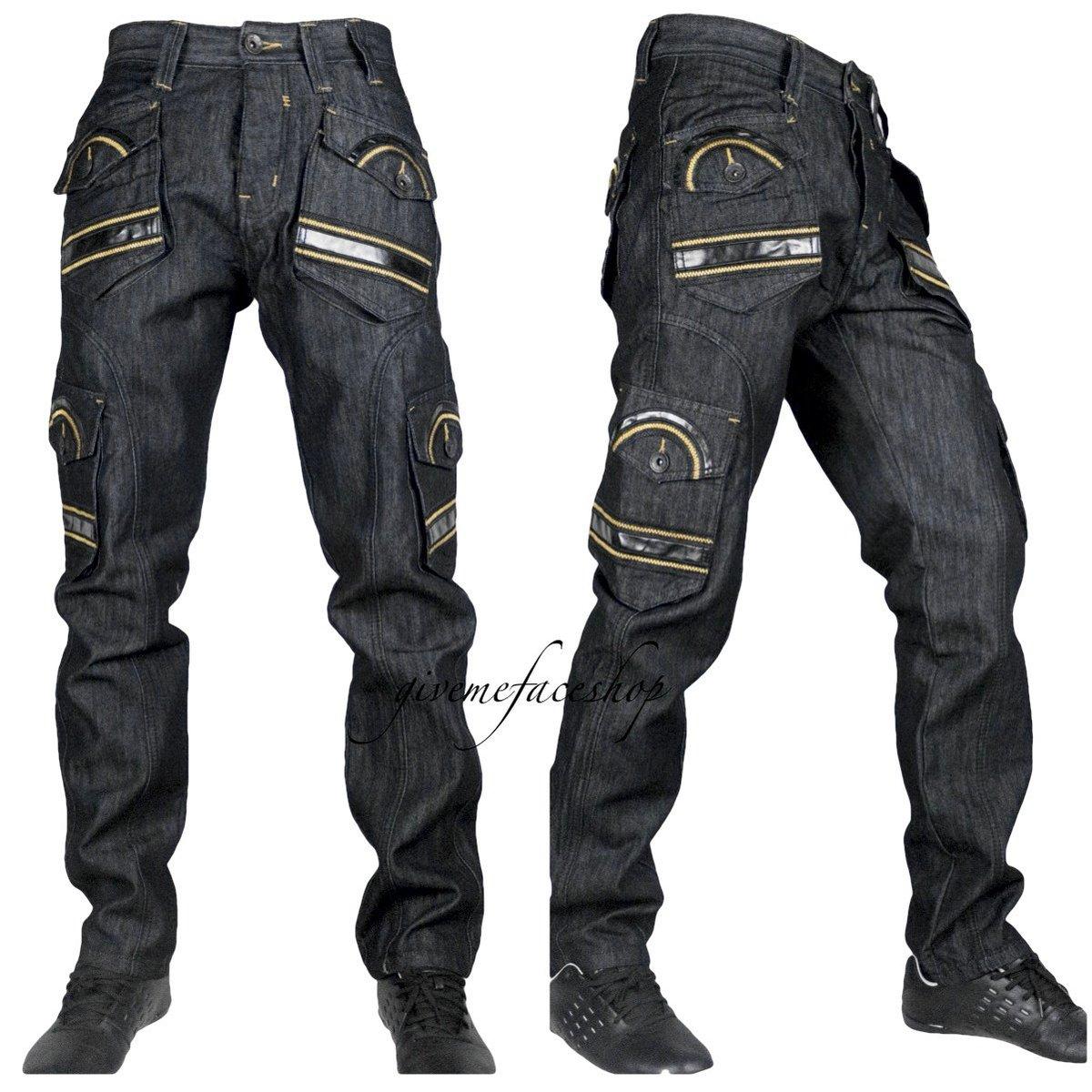 22e1e25fd65a38 Mens faux leather combat jeans http://www.ebay.co.uk/itm/Peviani-Mens-combat -g-jeans-club-cargo-black-rock-star-denim-pants-hip-hop-/201544508962 …