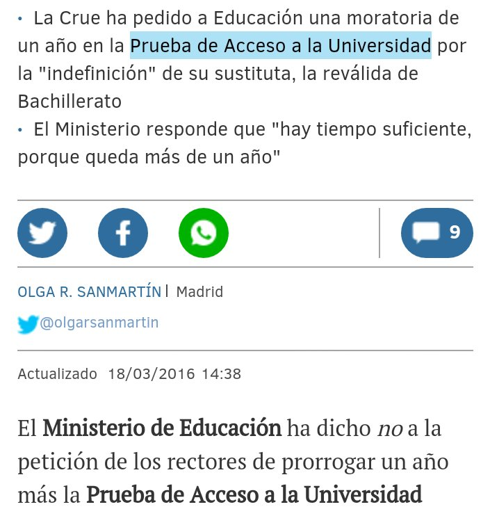 A @educaciongob el acceso a la universidad no le corre prisa ... Hay tiempo, sí, ... para que sigamos #desorienta2 https://t.co/LPajJmu4Oj