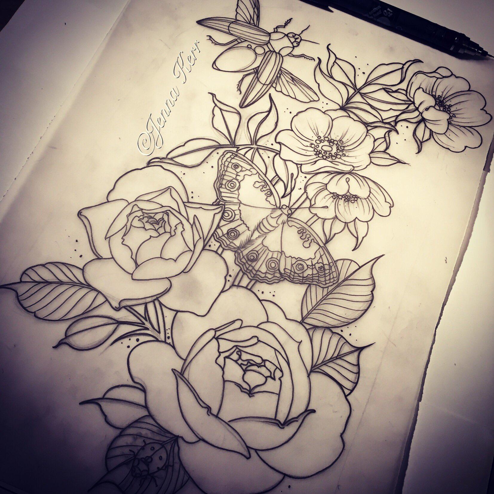 jenna kerr on twitter today 39 s piece vintage tattoo tattoo jewels roses botanicals. Black Bedroom Furniture Sets. Home Design Ideas