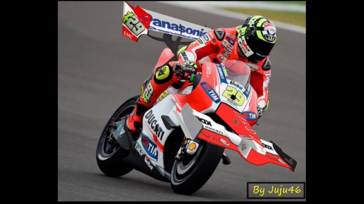 Thanks to @sliders46 juju46 we got a glimpse of @andreaiannone29 new wings he'll be running today