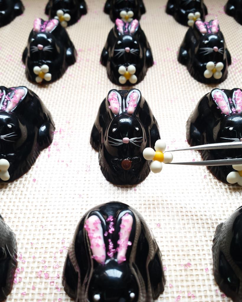 Chocolate bunnies for Easter from Roselen Chocolatier