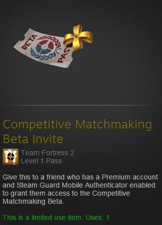 Matchmaking beta pas